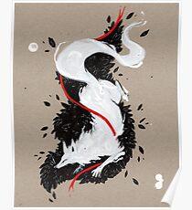 WHITE FOX RIBBONS  Poster