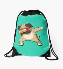 Tupfen-lustiges Hip-Hop-T-Shirt des Pug Turnbeutel