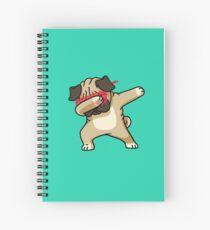 Dabbing Pug funny hip hop tshirt Spiral Notebook