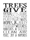 Trees Give - Oxygen, Food, Fuel, Homes... Cute Tree by jitterfly