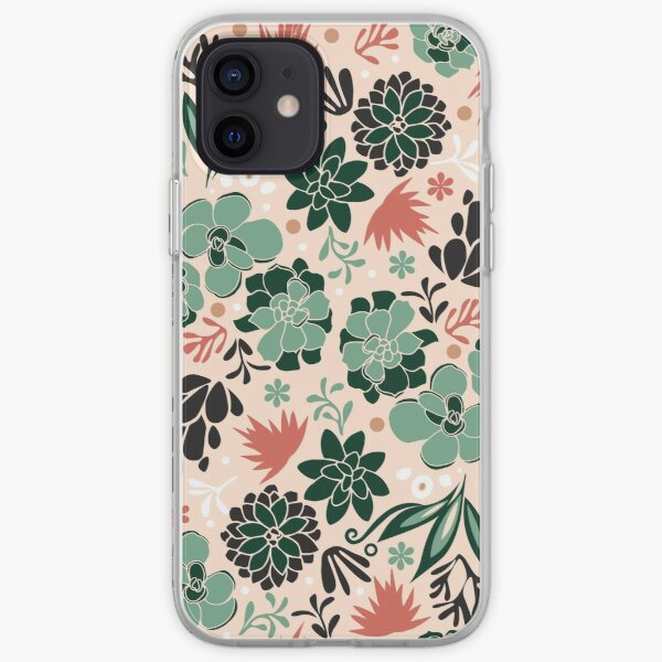 Succulent flowerbed iPhone Soft Case