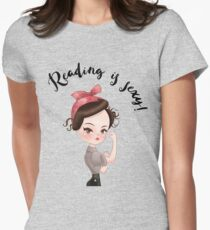 Reading is Sexy - Gilmore Girls Rory read reader bookworm library Womens Fitted T-Shirt