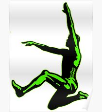 Long Jumper Silhouette  Poster