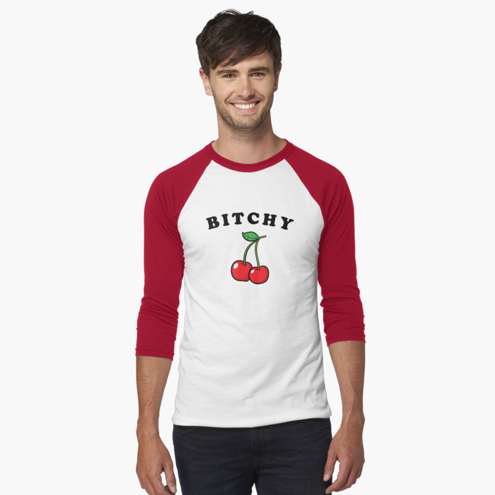 Bitchy Cherries Tee – Cheryl Blossom | Baseball ¾ Sleeve T Shirt