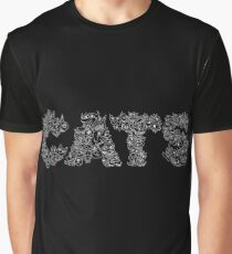 CATS BLACK Graphic T-Shirt