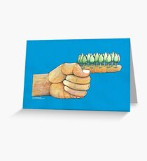 Forefinger and trees Greeting Card