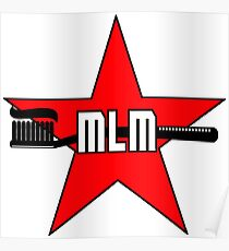 MLM Marxism-Leninism-Maoism Toothbrush Logo Poster