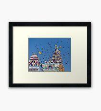 Colorful Hindu Temple India  Framed Print