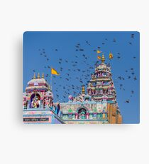 Colorful Hindu Temple India  Canvas Print