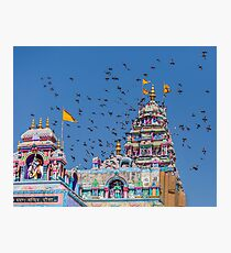 Colorful Hindu Temple India  Photographic Print