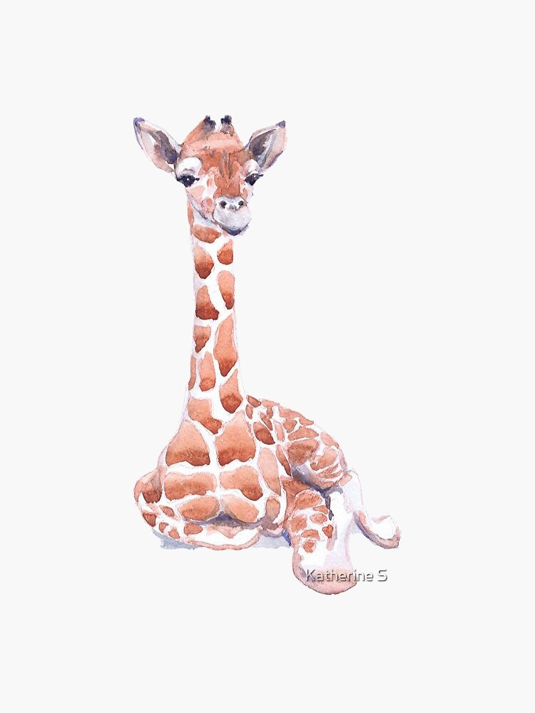 Watercolor Giraffe by katherineshek