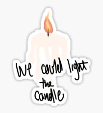 RENT Light My Candle Sticker