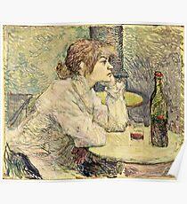 Henri De Toulouse Lautrec - The Hangover (Suzanne Valadon) 1887  Poster