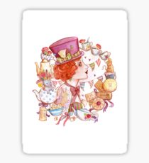 Mad Hatter Alice in Wonderland Inspired Art Sticker