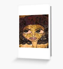 Afro Preppy Greeting Card