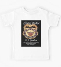 #010.........MY OFFICIAL BS BADGE Kids Clothes