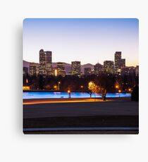 Downtown Denver Colorado Skyline Color 1x1  Canvas Print