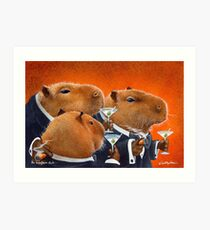Will Bullas / art print / Capybara Club... / humor / animals Art Print