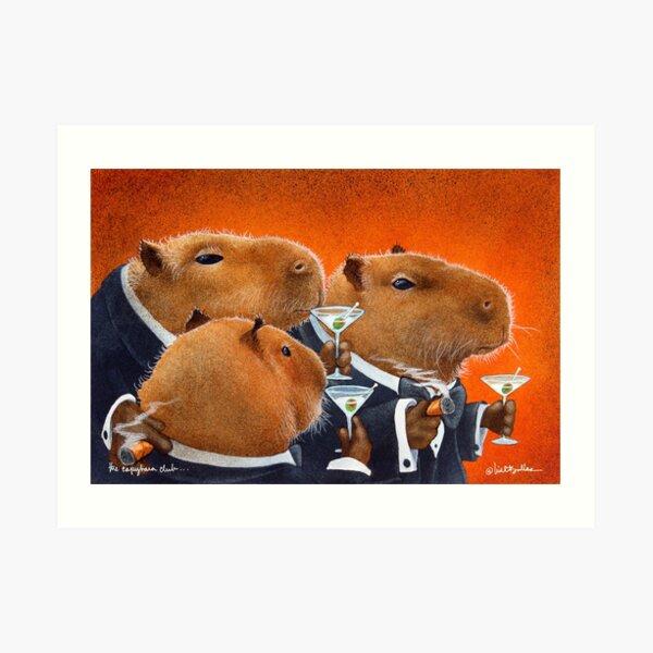 Will Bullas / art print / Capybara Club... / humor / animals Art Print