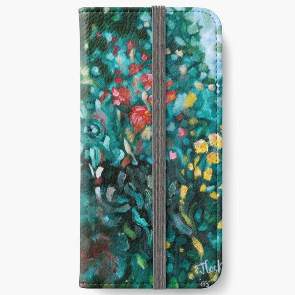 Summer Garden Green iPhone Wallet