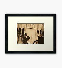 saloon girl Framed Print