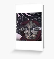 Graphic Afro Greeting Card
