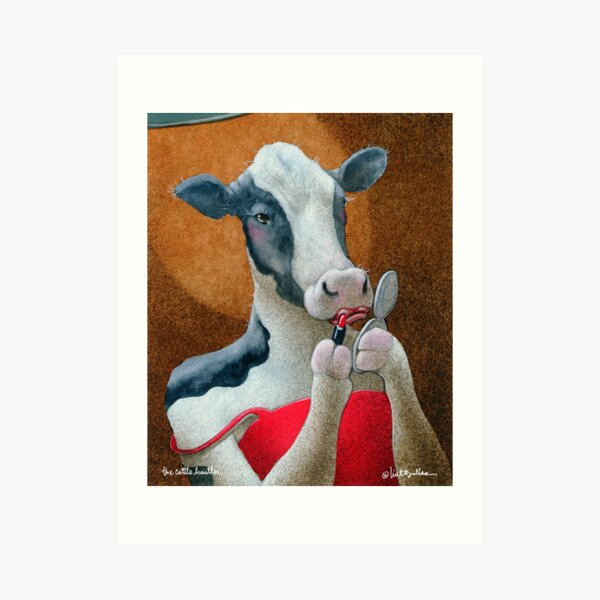 Will Bullas / art print / cattle hustler... / humor / animals Art Print