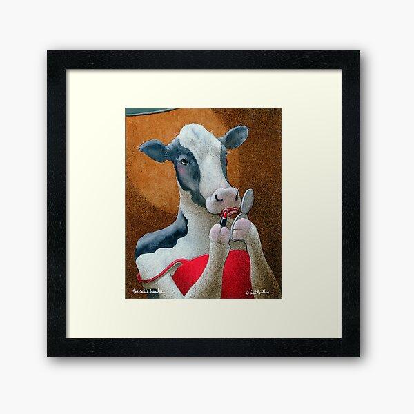Will Bullas / art print / cattle hustler... / humor / animals Framed Art Print