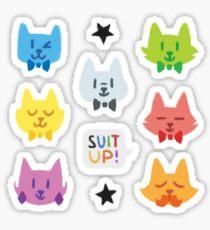 Dapper Cats of Voltron (Version 2) Sticker