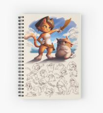 Jacky&Bo Character Sheet Spiral Notebook