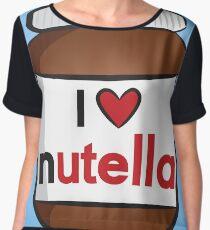 I <3 Nutella Women's Chiffon Top