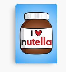 I <3 Nutella Canvas Print