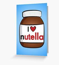 I <3 Nutella Greeting Card