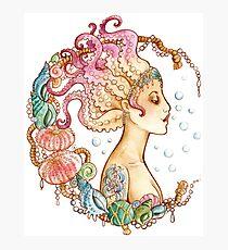 Octopus Mermaid Photographic Print