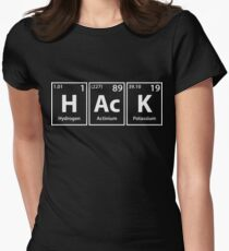 Hack (H-Ac-K) Periodic Elements Spelling Womens Fitted T-Shirt