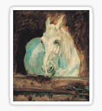 Henri De Toulouse Lautrec - The White Horse Gazelle (1881) Sticker