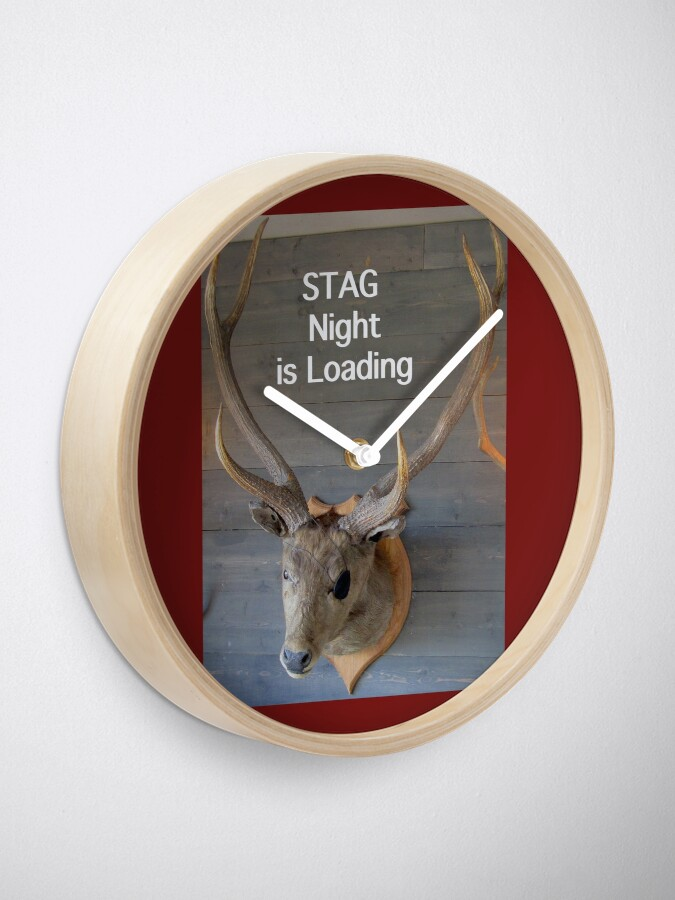 Alternate view of Stag night  Clock