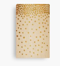 Gold Snowstorm on Wood Canvas Print