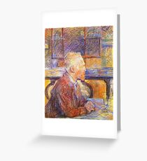 Henri De Toulouse Lautrec Portrait Of Vincent Van Gogh 1887  Greeting Card
