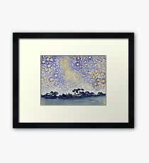 Henri Edmond Cross - Landscape With Stars Framed Print