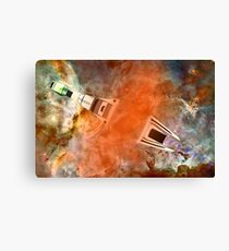 Cruiser/fighter passing through a time warp - all products Canvas Print