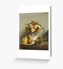 Henri Fantin Latour - Flowers And Fruit 1865 Greeting Card
