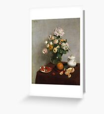 Henri Fantin Latour - Flowers And Fruit 1866 Greeting Card