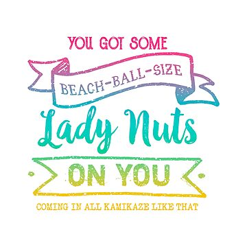 Beach Ball Size Lady Nuts (Tropical Rainbow) by whimsyworks