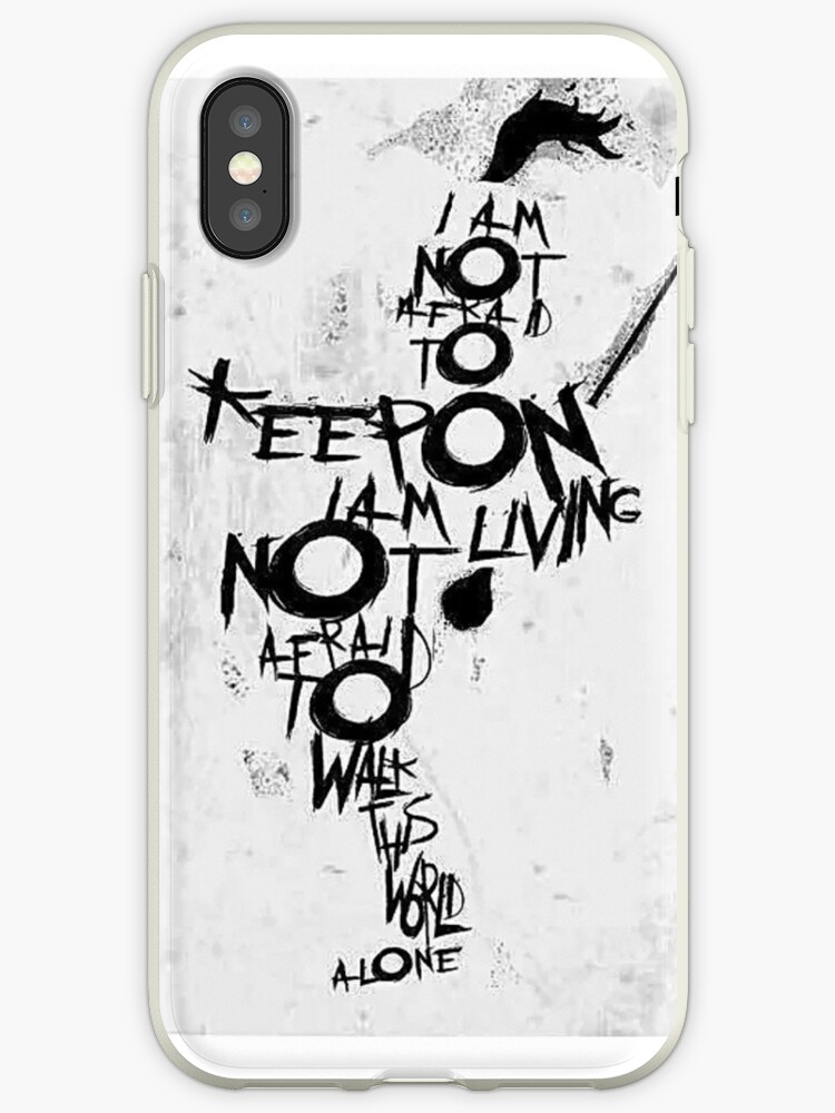 'Famous Last Words phone case' iPhone Case by unorthodoxxx