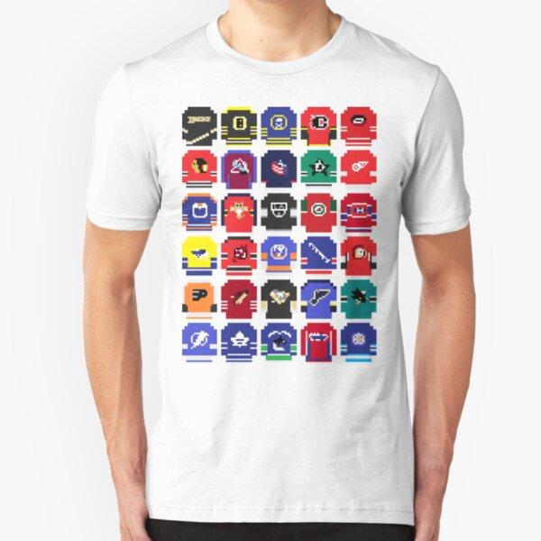 8-Bit Hockey Jerseys Slim Fit T-Shirt