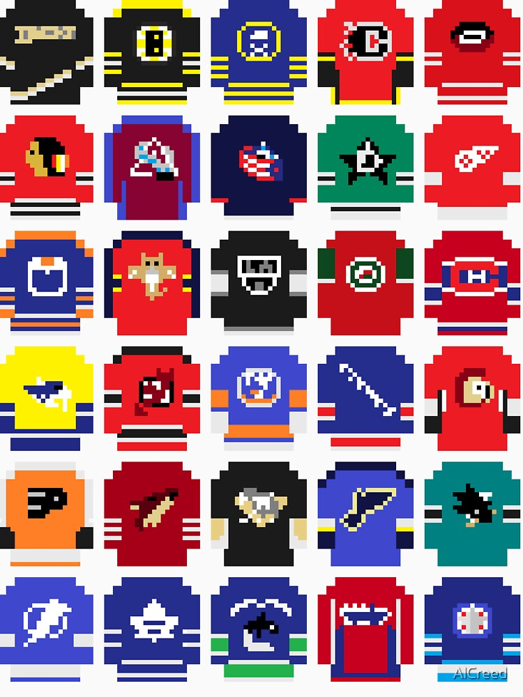 8-Bit Hockey Jerseys | Unisex T-Shirt