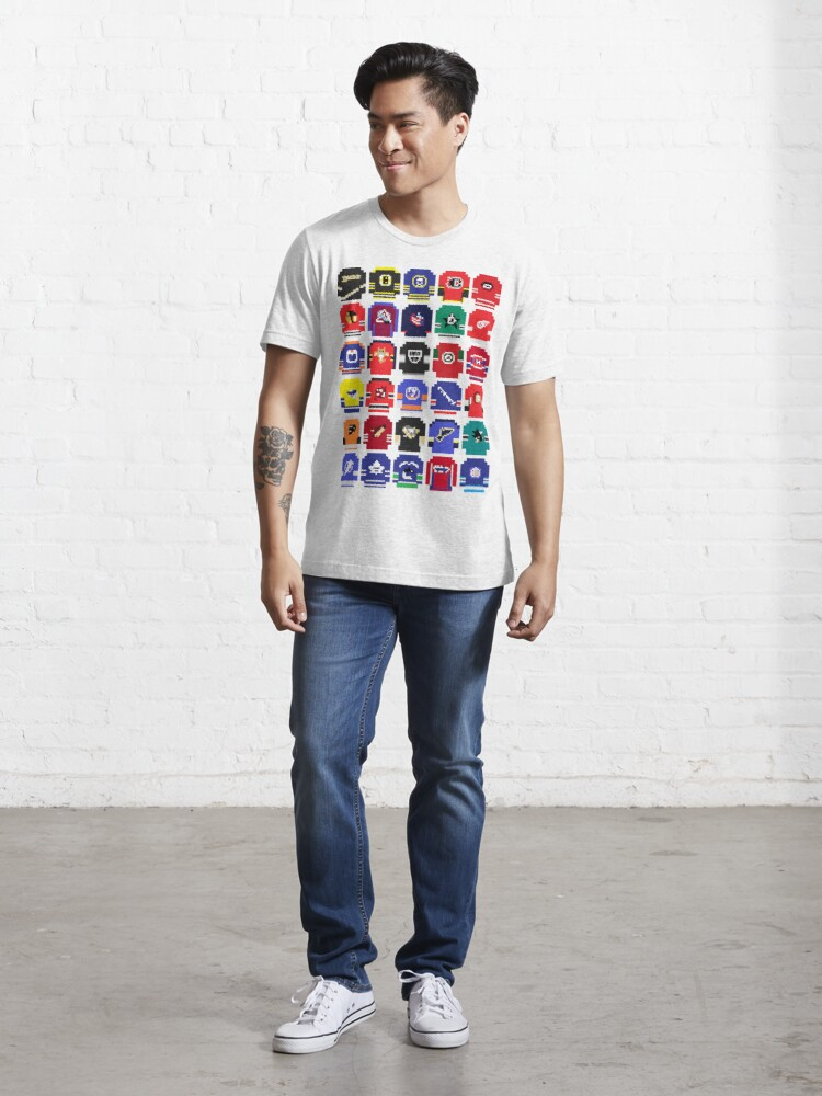 Alternate view of 8-Bit Hockey Jerseys Essential T-Shirt
