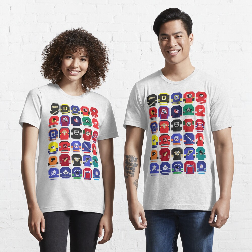 8-Bit Hockey Jerseys Essential T-Shirt