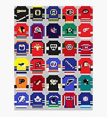 8-Bit Hockey Jerseys Photographic Print